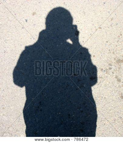 Silhouette self portrait