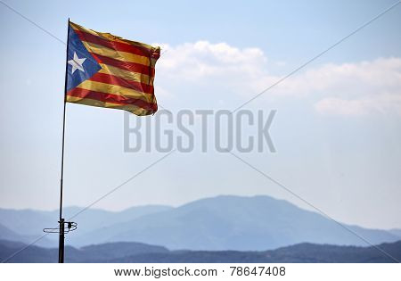 freedom flag of Catalonia