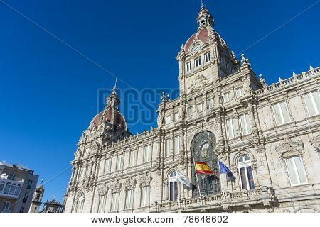 A Coruna Town Hall In A Coruna, Spain.
