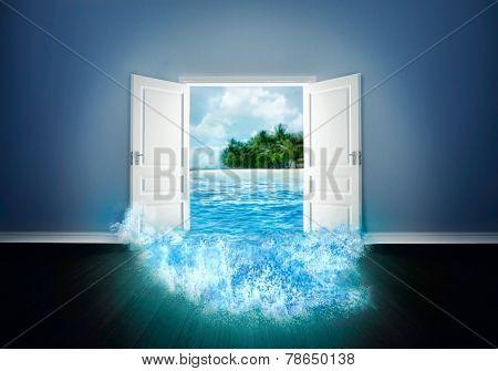 Door open to the beach