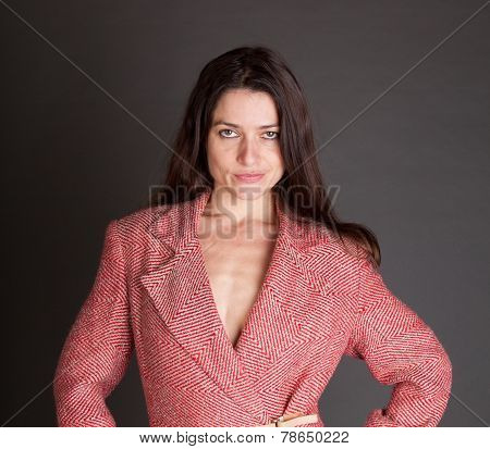 Sexy Woman In A Tacky Suite