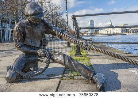 Linesman Statue