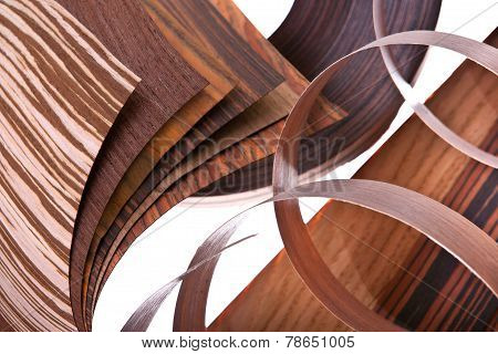 Samples of different sorts of veneer