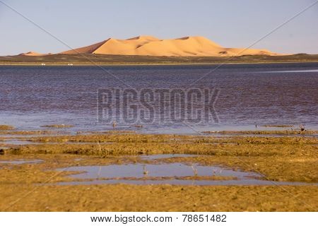 Dayet Srji Salt Lake Under The Dunes Of Erg Chebbi
