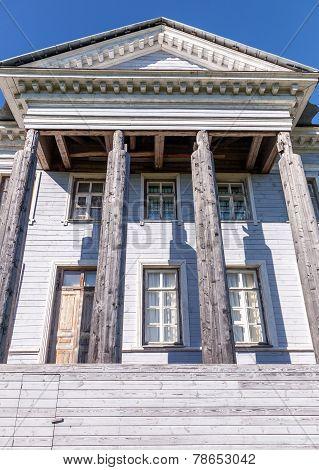 The Rozhdestveno Memorial Estate Facade. Russia