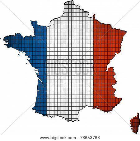France map grunge mosaic