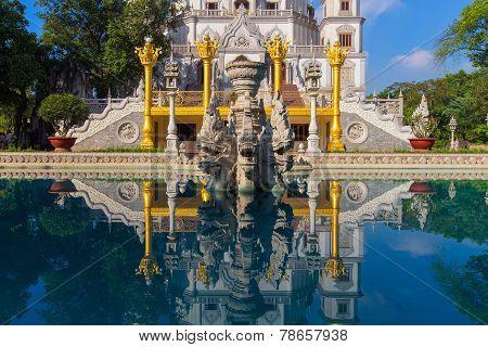 Buu Long Pagoda At  Ho Chi Minh City, Vietnam, Near Suoi Tien Theme Park