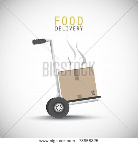 Food delivery hand truck