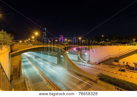 An underwater Saigon River Tunnel at Ho Chi Minh City, Vietnam
