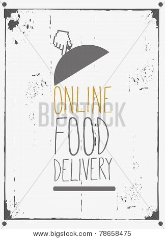 Courier online food delivery design