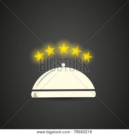 Five stars restaurant cloche
