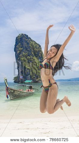 Thai Girl On The Beach