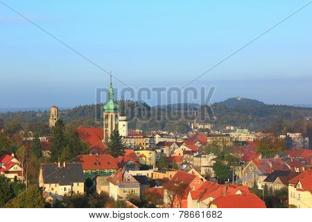 Landscape of city Mirsk in Poland