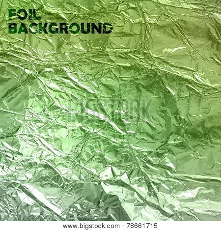 abstract vector background with green foil texture