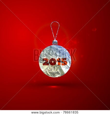 Abstract holiday vector illustration of Christmas  silver foil b
