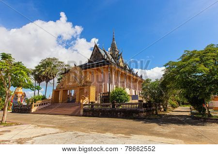 Xiem Can Khmer Pagoda Located In The Cu Lao Village, Hung Hoi Commune, Vinh Loi District Bac Lieu, V