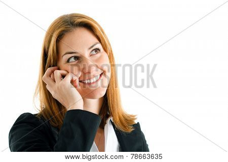 Businesswoman speaking at the phone
