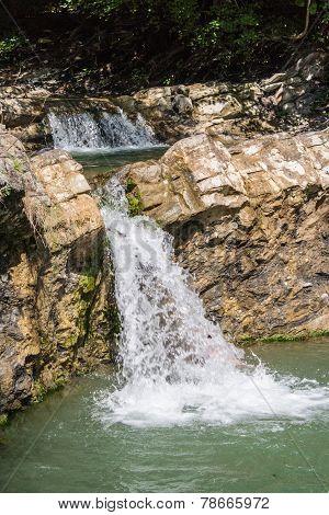 mountain waterfalls