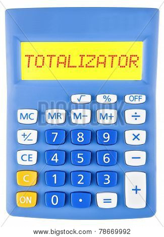 Calculator With Totalizator On Display