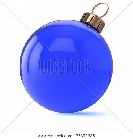 New Years Eve Christmas Ball Ornament Blue Decoration