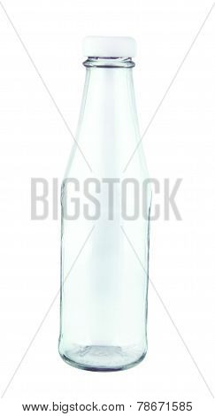 Empty Ketchup Glass Bottle