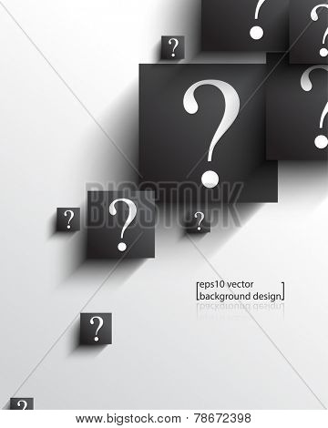ep10 vector overlapping geometric square with question mark concept background