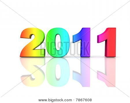 Year 2011 In Rainbow Colors