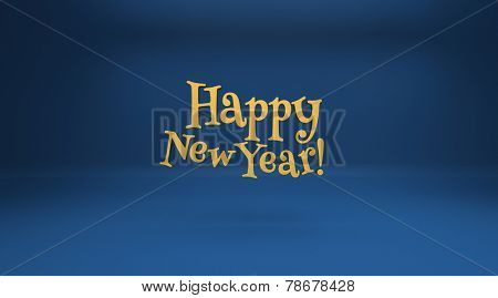 Winter blue background and Happy New Year. Design elements for holiday cards