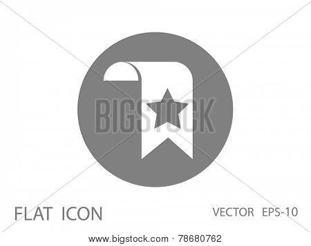 Favorite bookmark icon, vector illustration