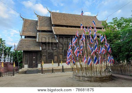 Wat Phan Tao In Chiang Mai, Thailand