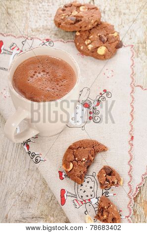Christmas Hot Cocoa With Cookies