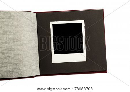 album front of white background, symbol photo for memories and documentation