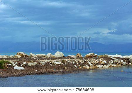 Boulders on the breakwater