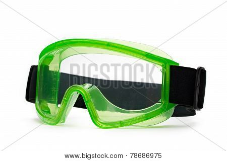 Green Safety Eye Shields With Strap