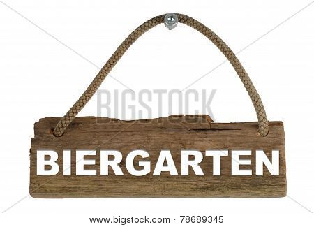 Wooden board beergarden