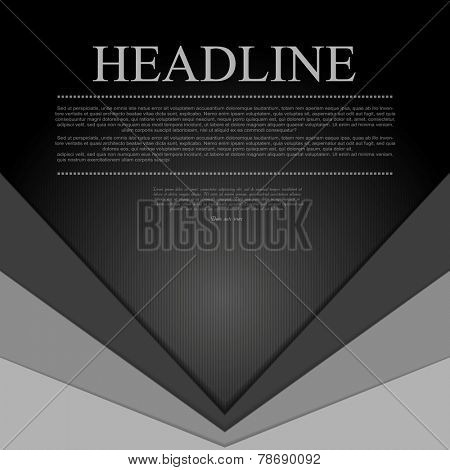 Dark grey corporate tech background. Vector design