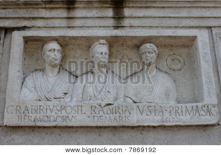Bas relief in Appian way