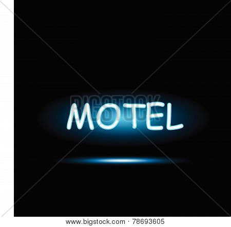 Motel Neon Sign Illustration