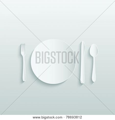 Paper Meal Setting Illustration