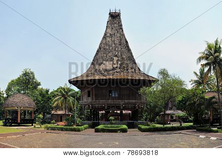 Traditional house on East Timor, Timor-Leste