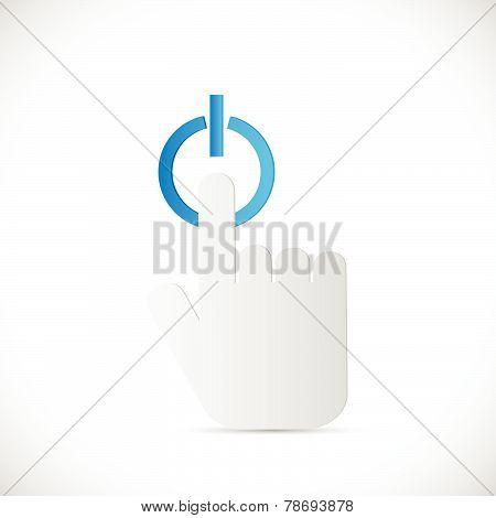 Push Power Button