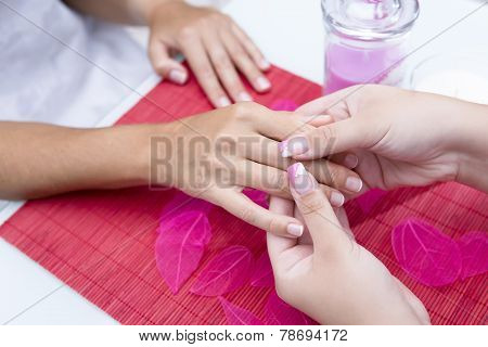 Massaging Hands