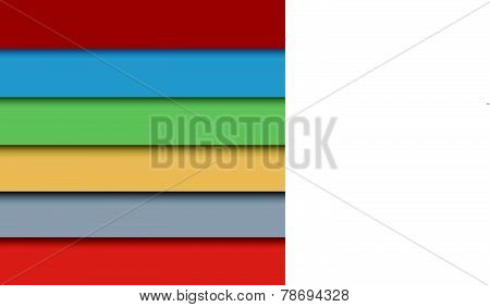 Colorful Window Blinds Background