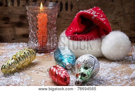 Christmas bell and candle