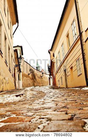 Beautiful Novy Svet Street In Prague, Czech Republic