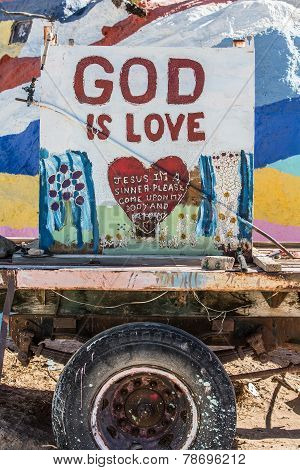 Salvation Mountain Outsider Art Installation