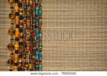 background with beads