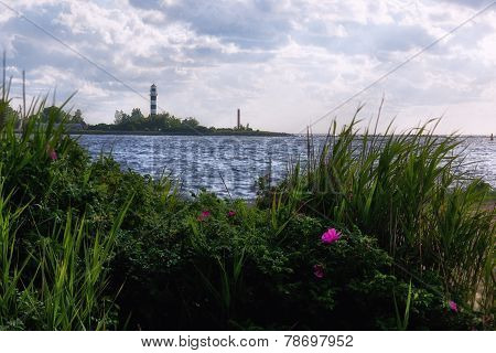Lighthouse At The Mouth Of The Daugava River
