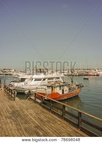 Boats And Yachts In Punta Del Este Port