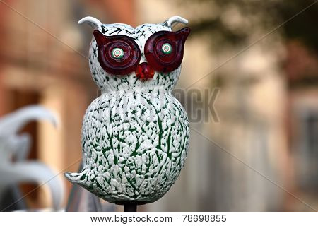 Owl From  Murano Glass